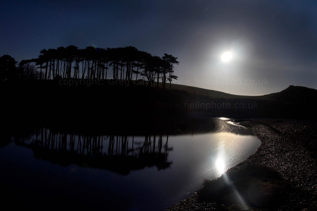 Full Moon over the River Otter, Spring 2011, |Image BS 02
