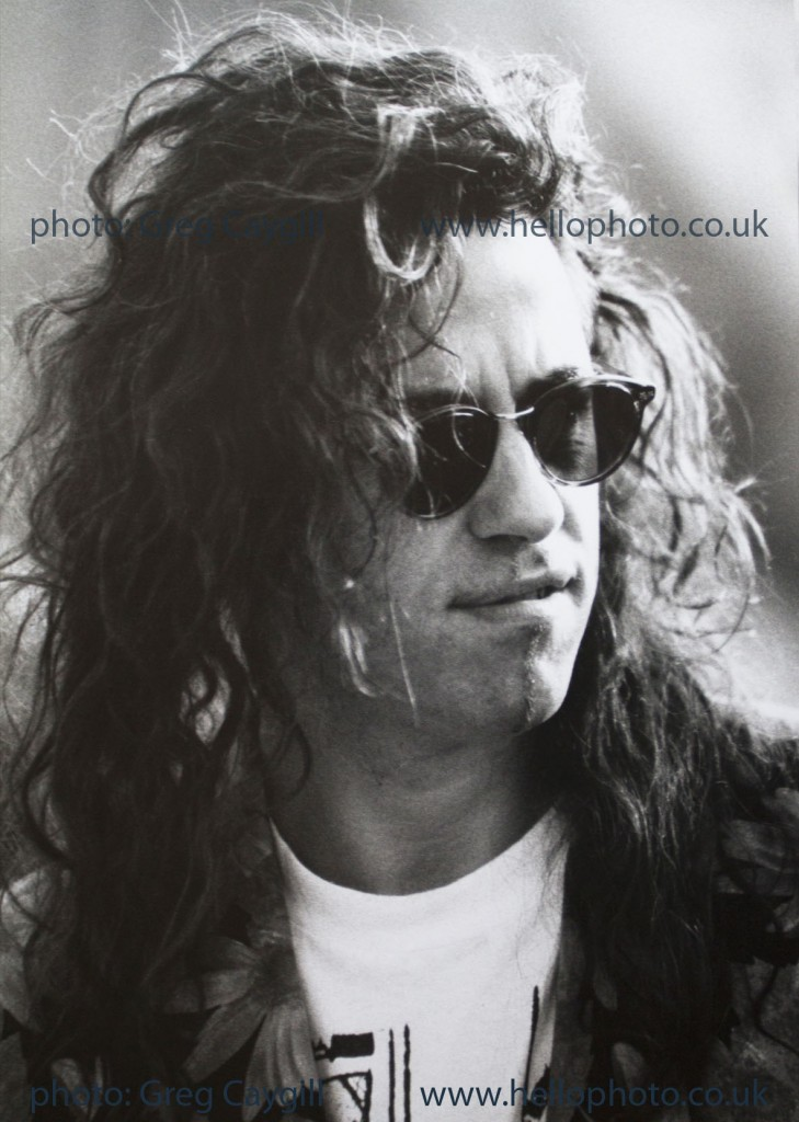 Bob Geldof, taken backstage at a open air concert, around 1994