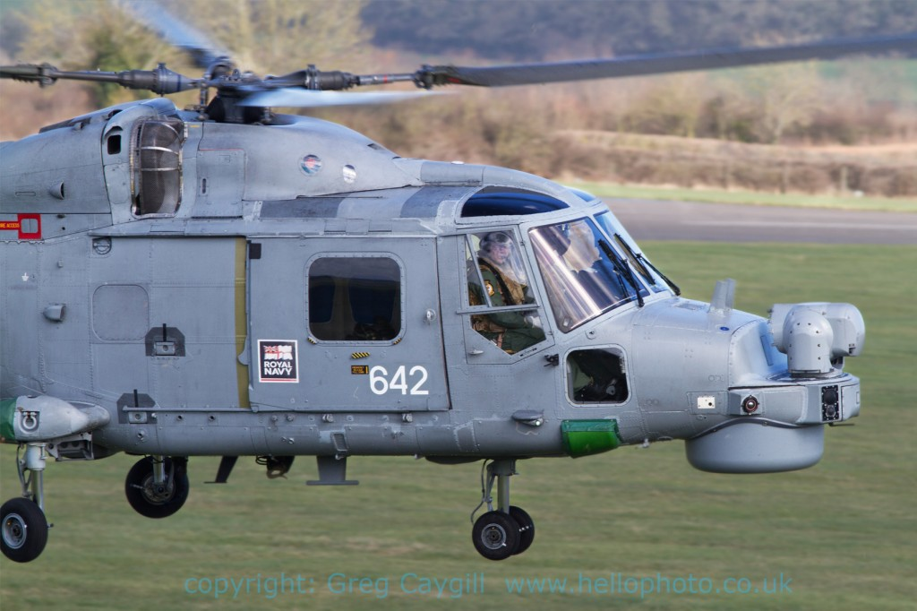 Lynx 642 from 702 Sqn. fly by 7.3.2012