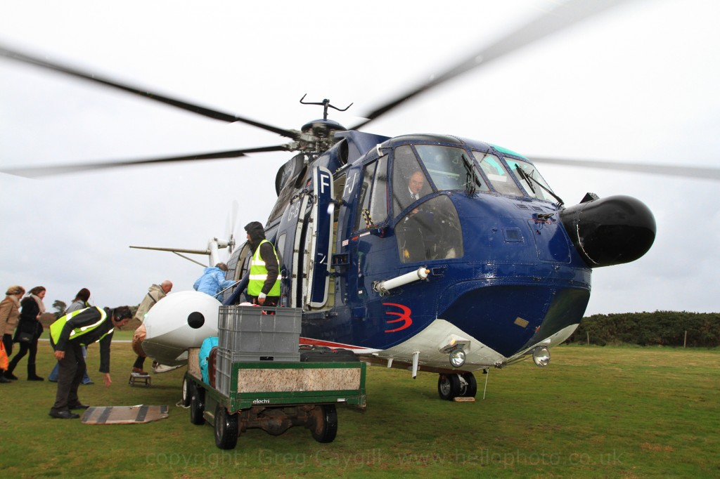 Isles Of Scilly Final Helicopter Flights Penzance And Tresco 31Oct 2012