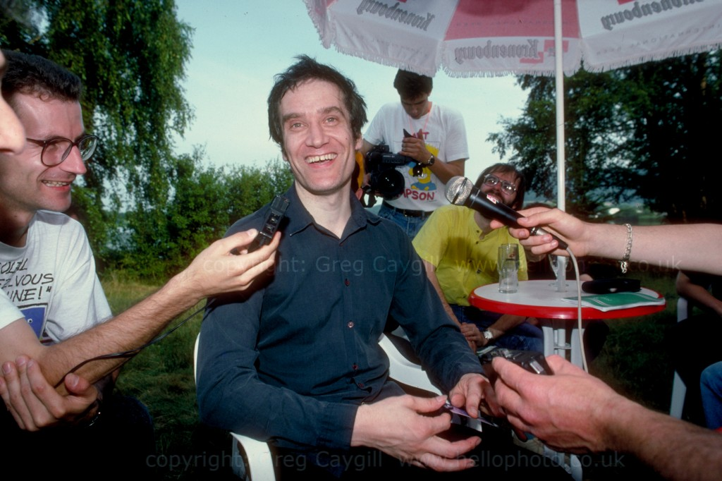 Wilko Johnson, interview at Belford Open Air Concert 1994 France