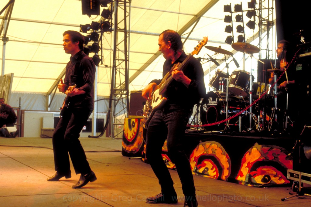 Wilko Johnson, Norman Watt-Roy and Sav, live at Belford Open Air Concert 1994?