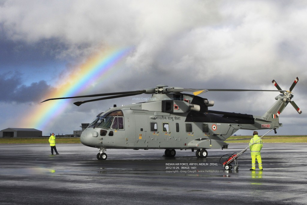 INDIAN AIR FORCE, AW101, MERLIN ZR342, TRAINING NEWQUAY, 2012, IMAGE: 1601