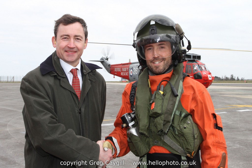 Opening of CAF, Tim Skeet Chairman & 771 Sqn NAS Seaking