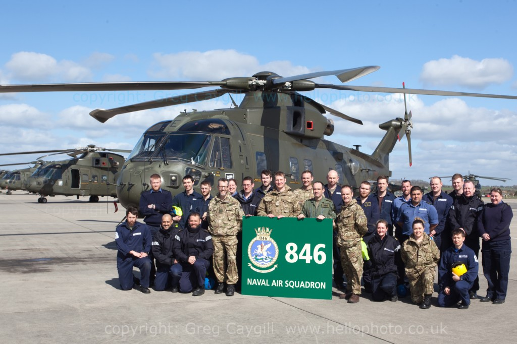 845 NAS return to RNAS Yeovilton with 6 Merlin Mk3. 26 March 2015