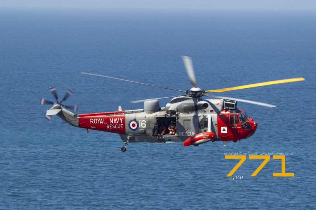 771 NAS flying over the sea in July 2015