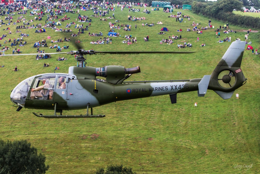 Gazelle Sqn. The Dawlish Air Show ground. 2015. With me on the ground 1728